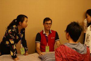 Marc MARTINEZ le temps de l'interrogatoire. Merci à Fang Fang pour la qualité de sa traduction.