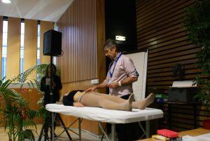 Boulhic Jean-François en atelier de démonstration diagnostic et palpation, très apprécié par les médecins acupuncteurs